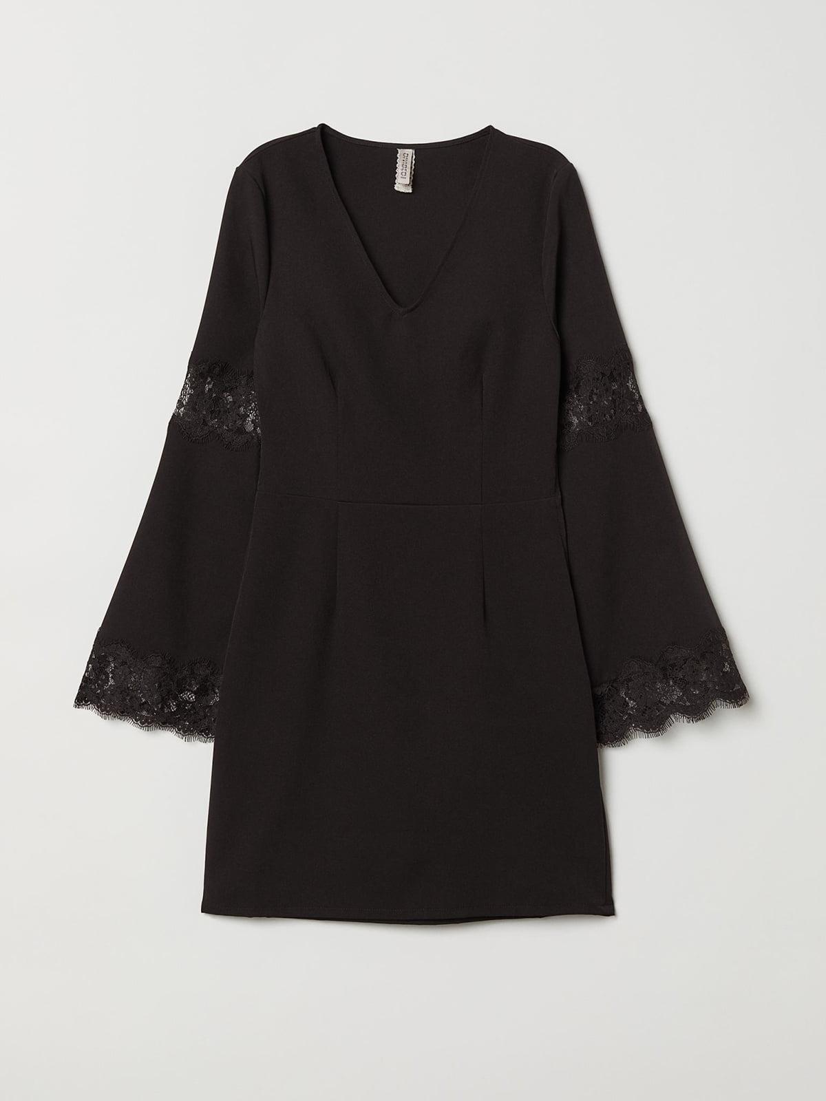Сукня з мереживом чорна   5475380