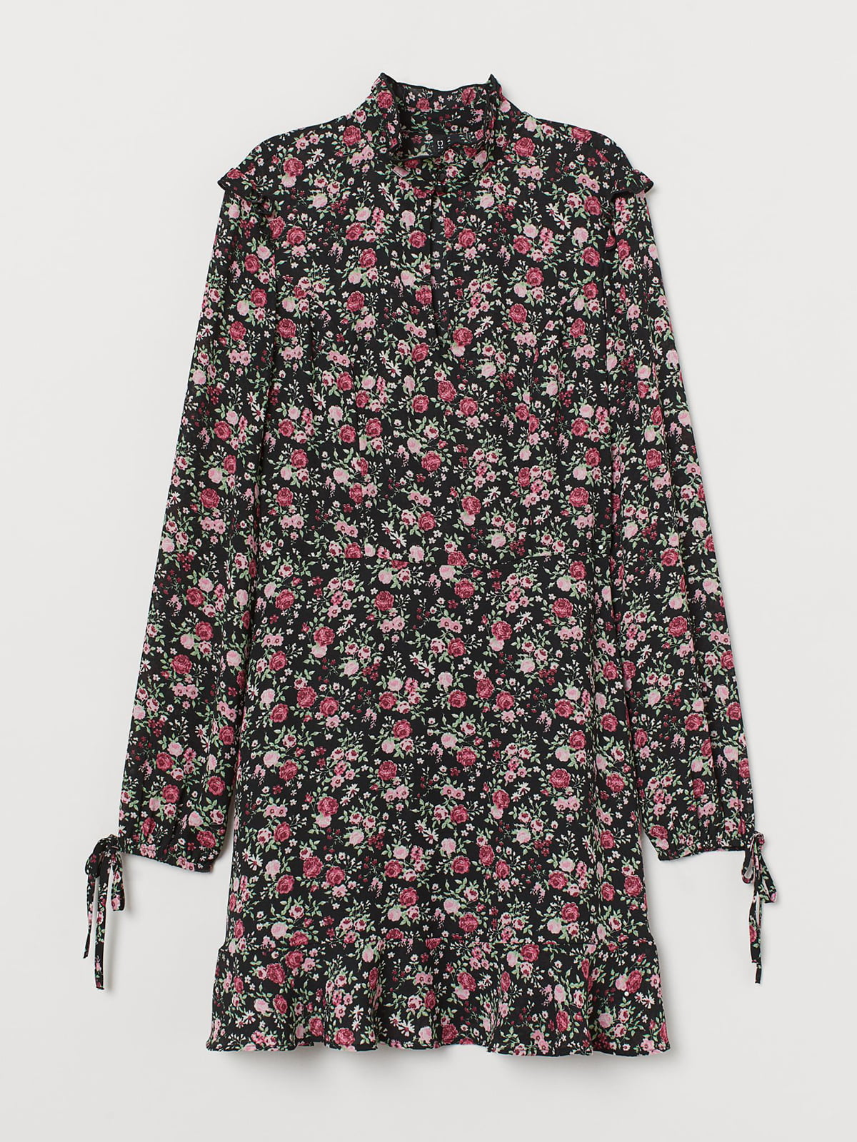 Сукня чорна в квітковий принт | 5475557