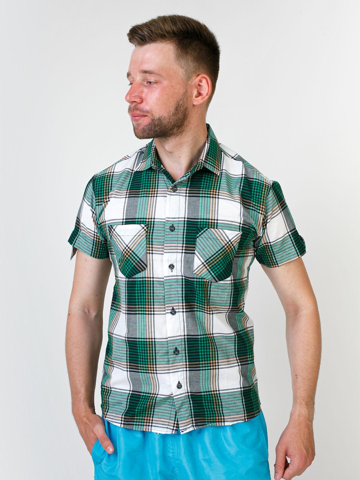 Рубашка зеленая в клетку   5474729