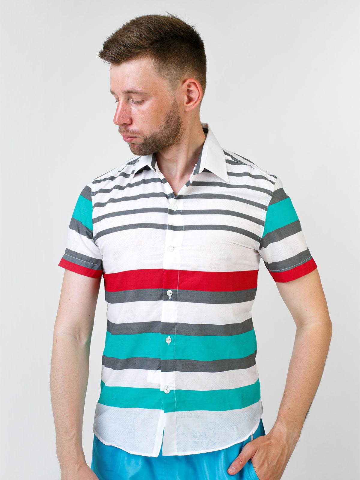 Сорочка біла в смужку | 5474671
