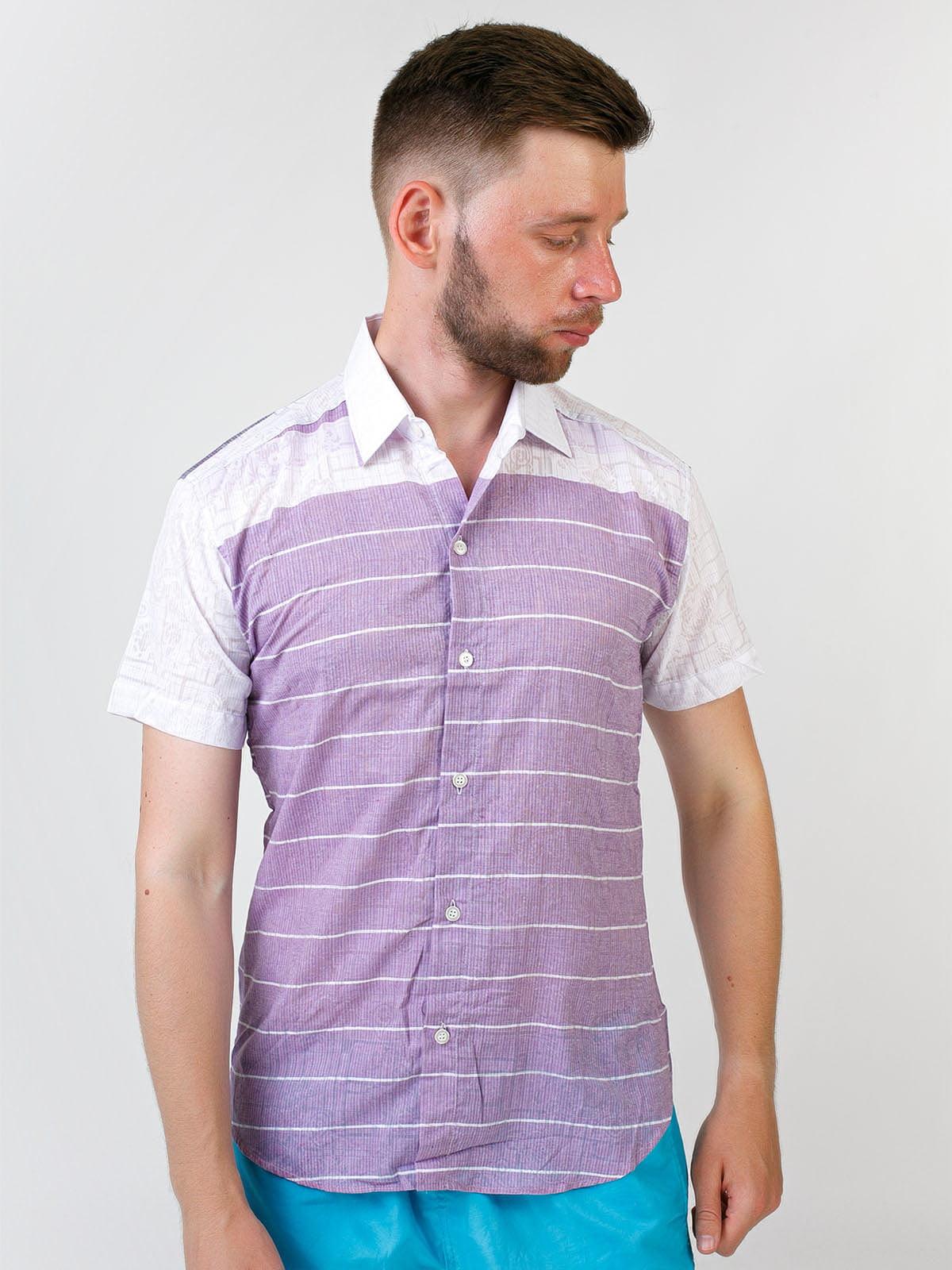 Рубашка двухцветная в полоску | 5474664