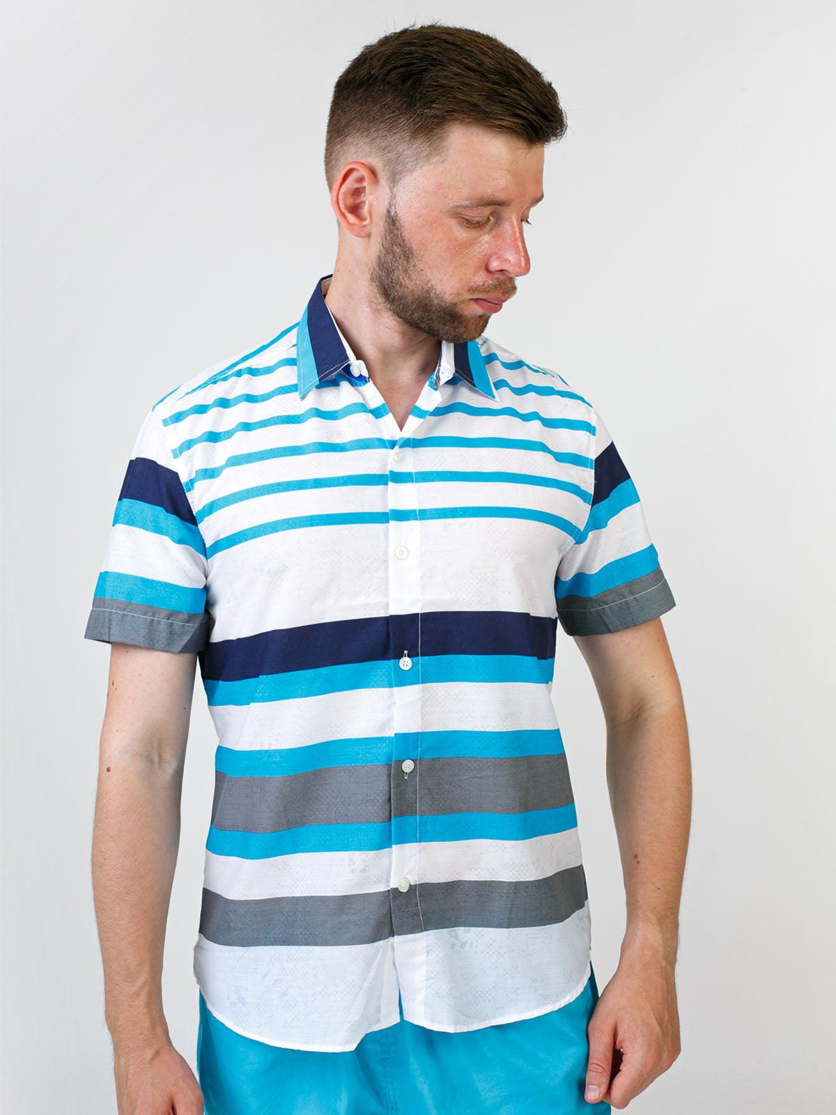 Рубашка белая в полоску   5474665