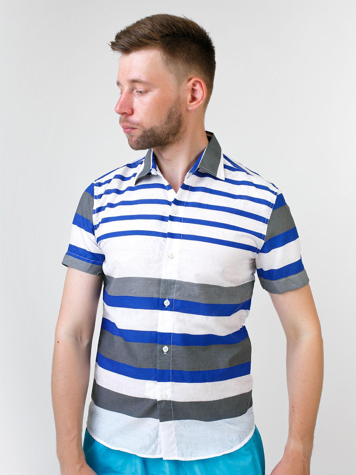 Рубашка белая в полоску | 5474666