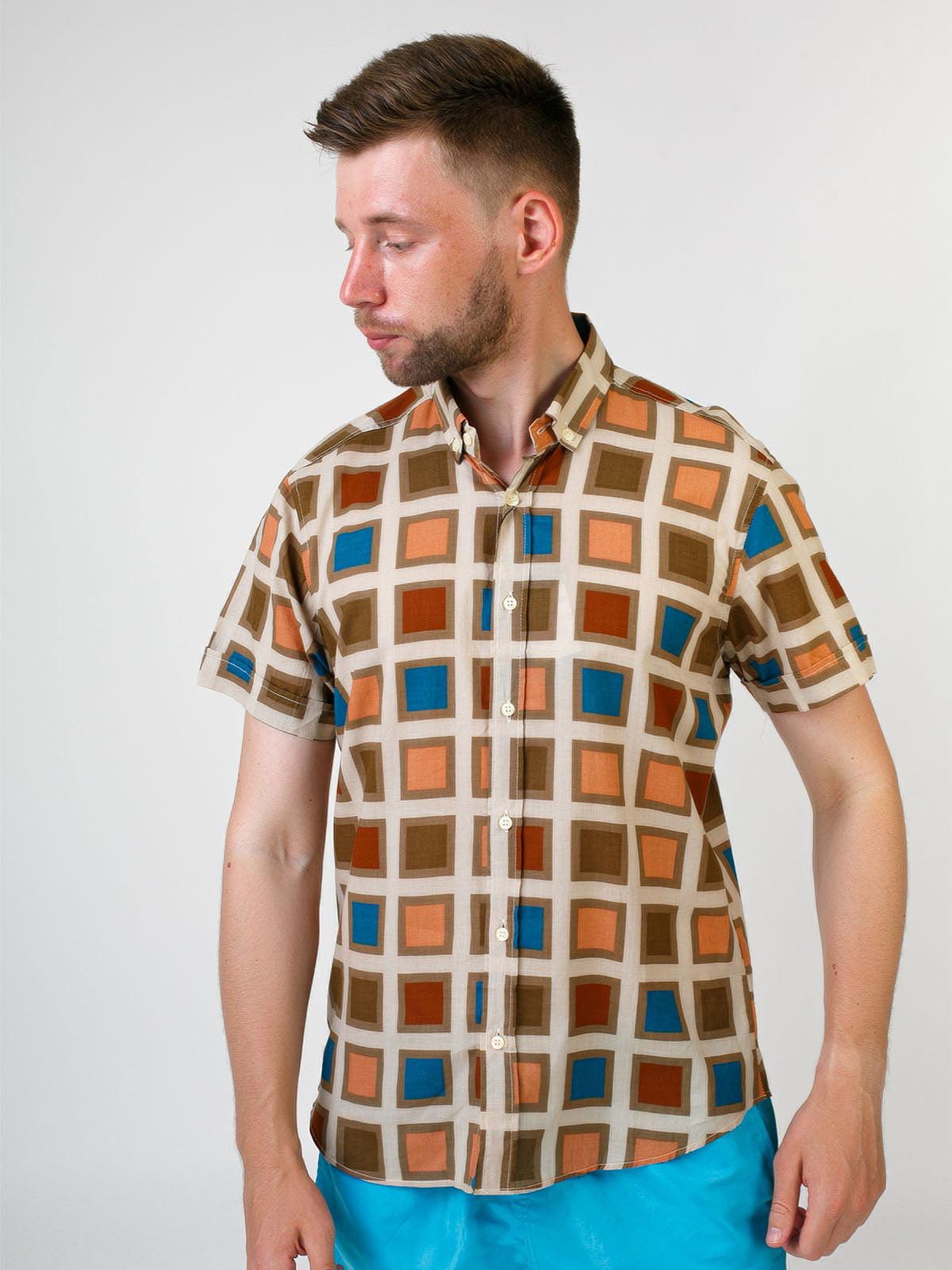 Рубашка разноцветная в клетку | 5474713