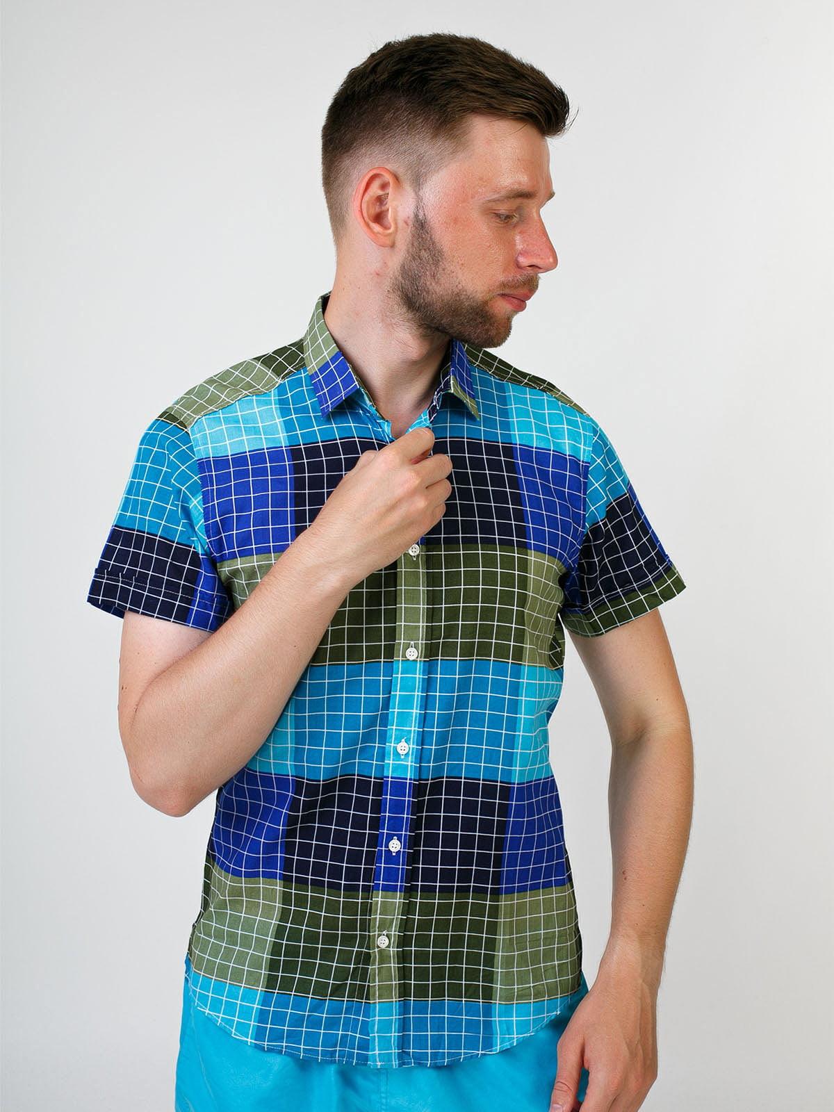 Рубашка разноцветная в клетку | 5474707