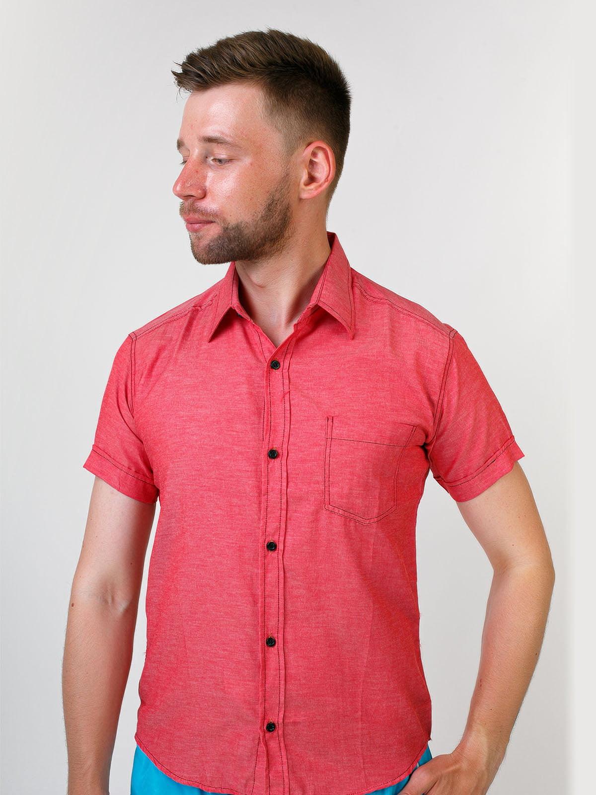 Рубашка кораллового цвета | 5474737