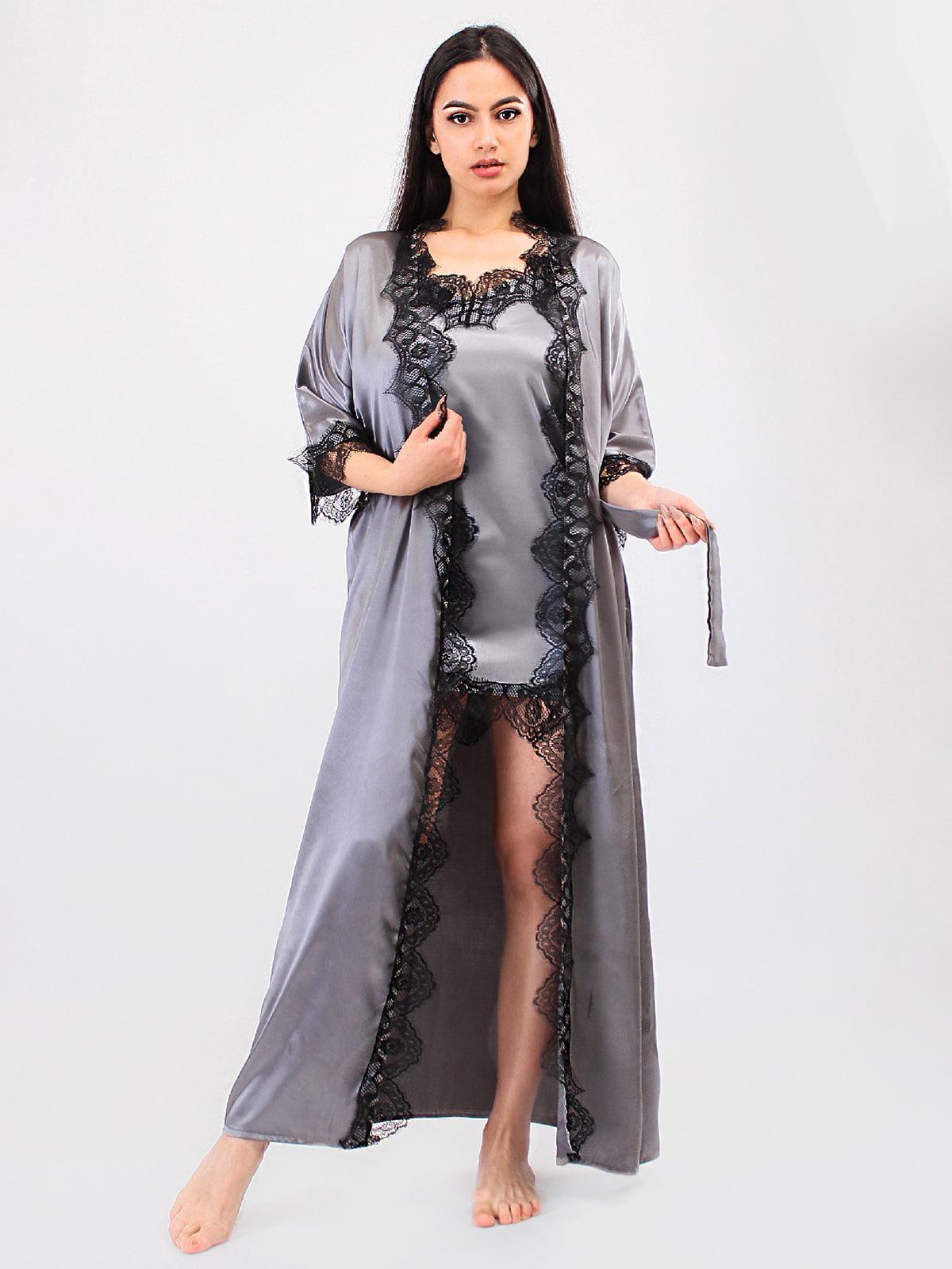 Комплект: халат і пеньюар | 5479273