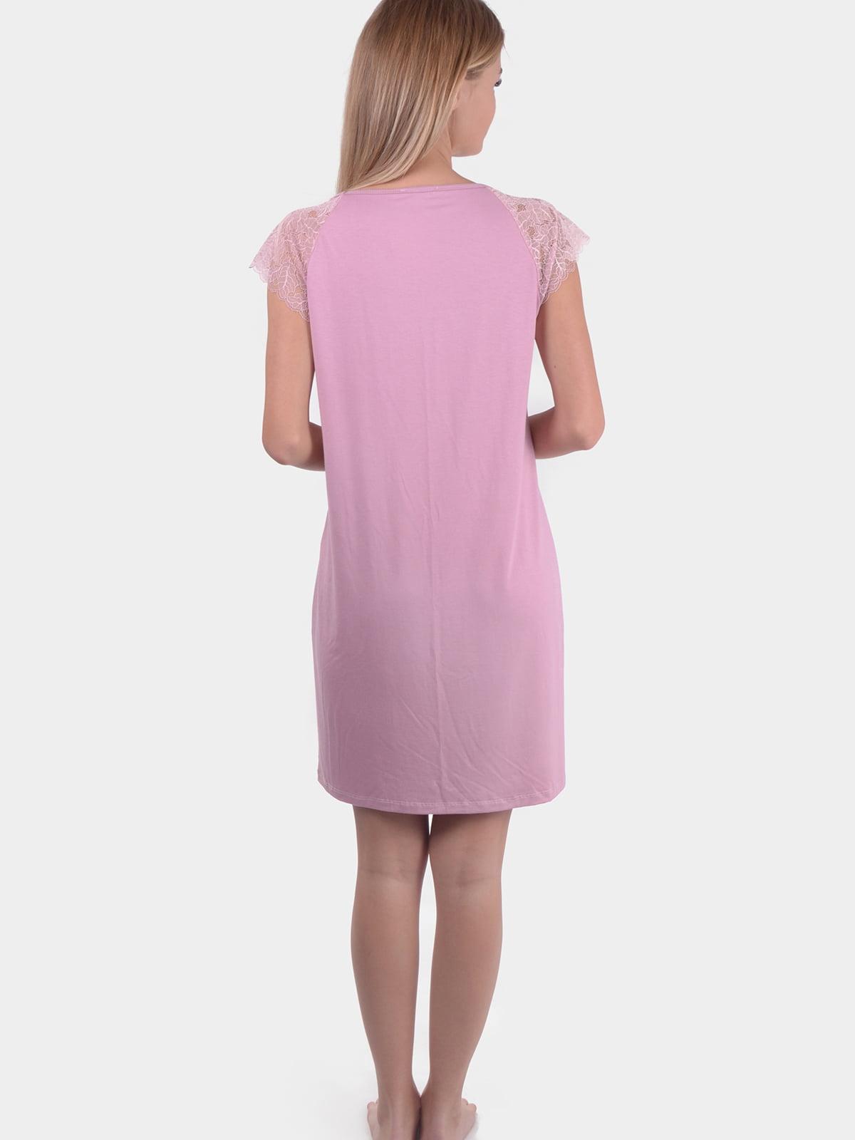 Сорочка нічна кольору пудри | 5483825