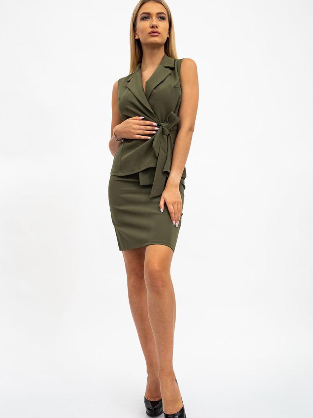 Костюм: жилет и юбка | 5484403