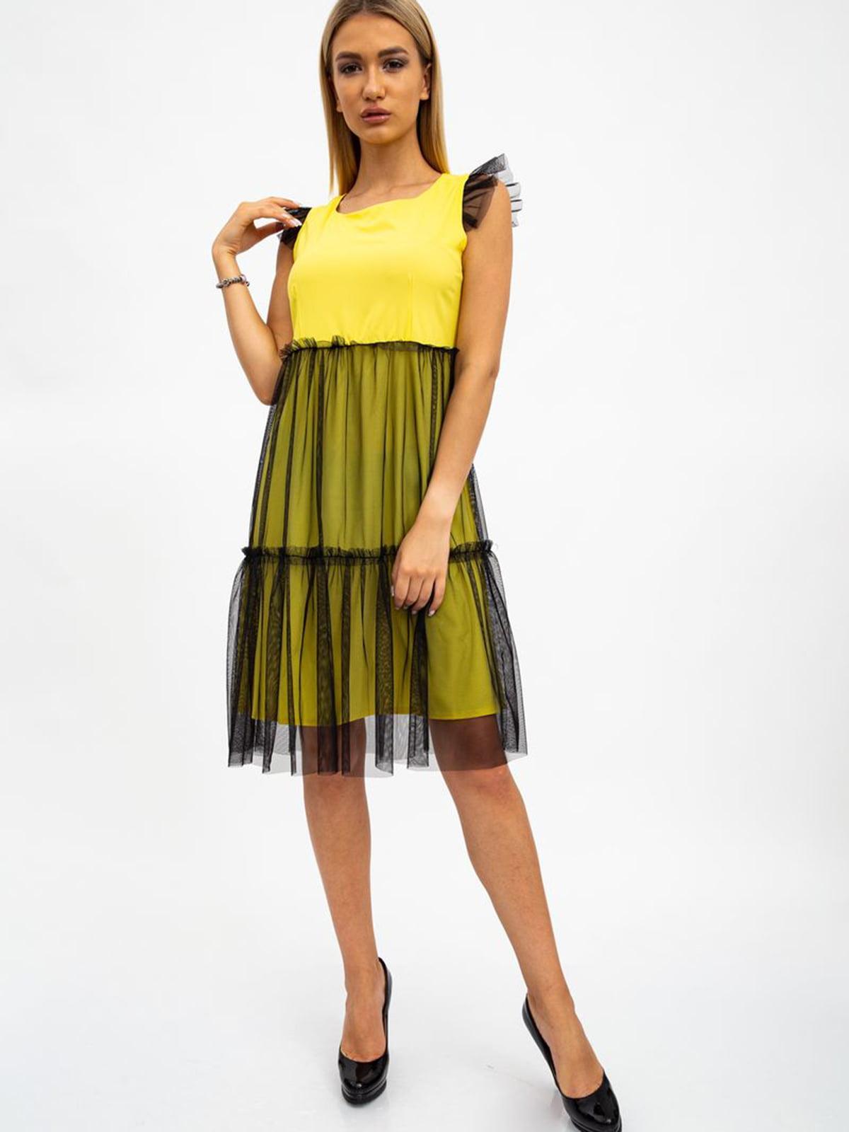 Платье желто-черное   5484497