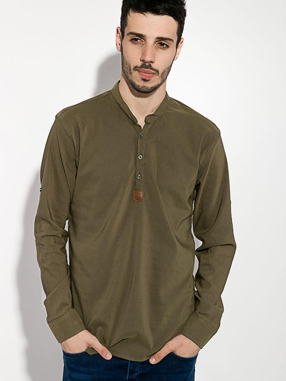 Рубашка цвета хаки   5484512