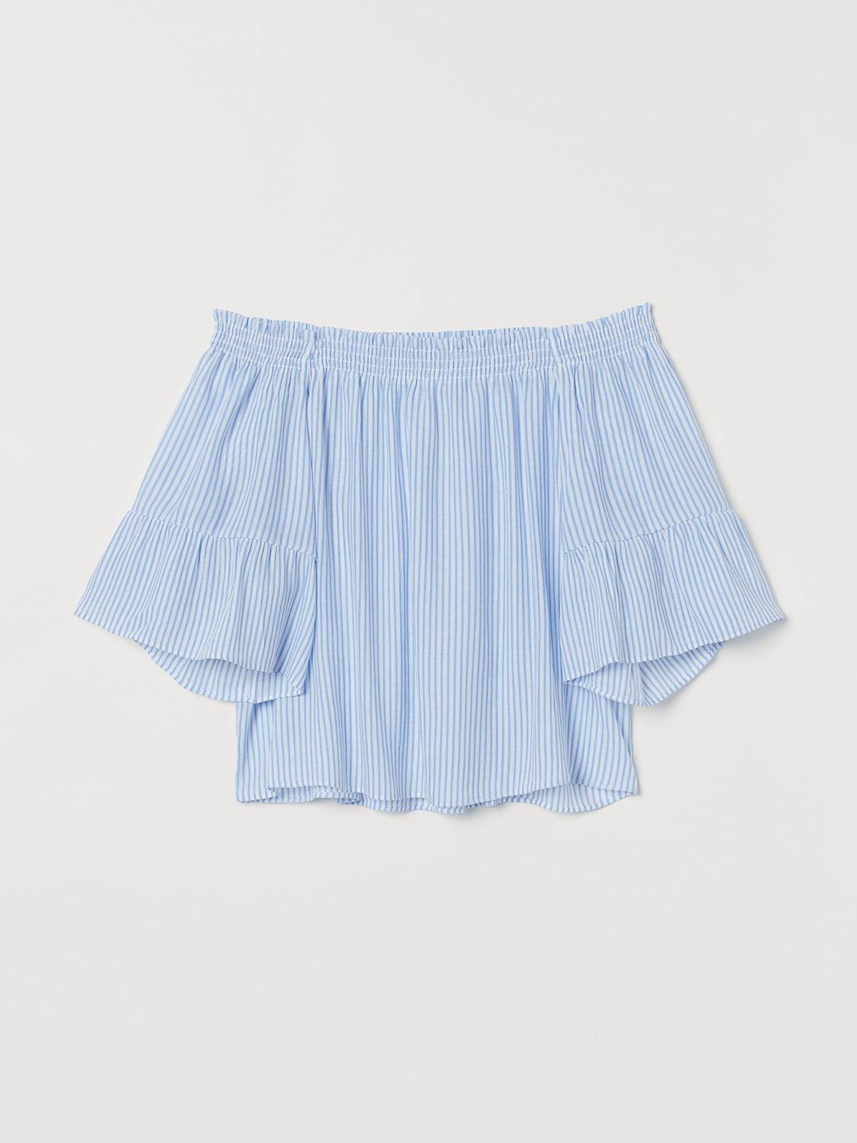 Блуза белая в полоску | 5485217