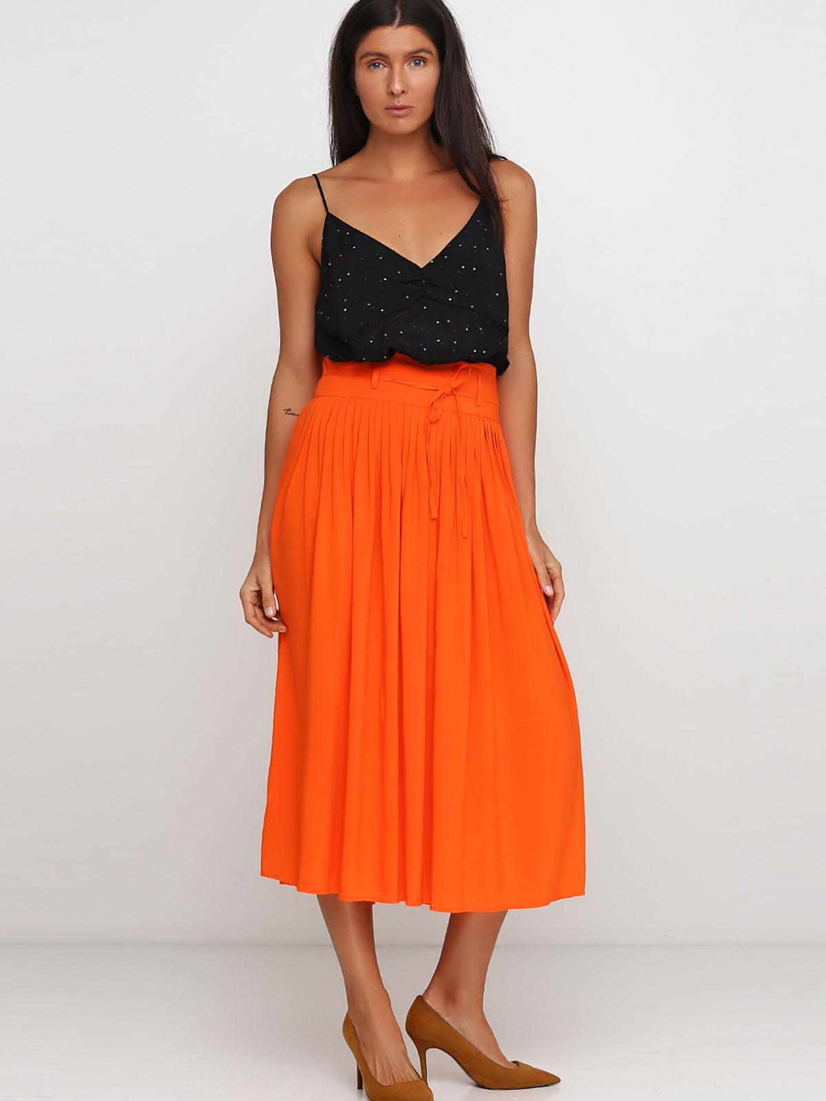 Юбка оранжевая | 5388785
