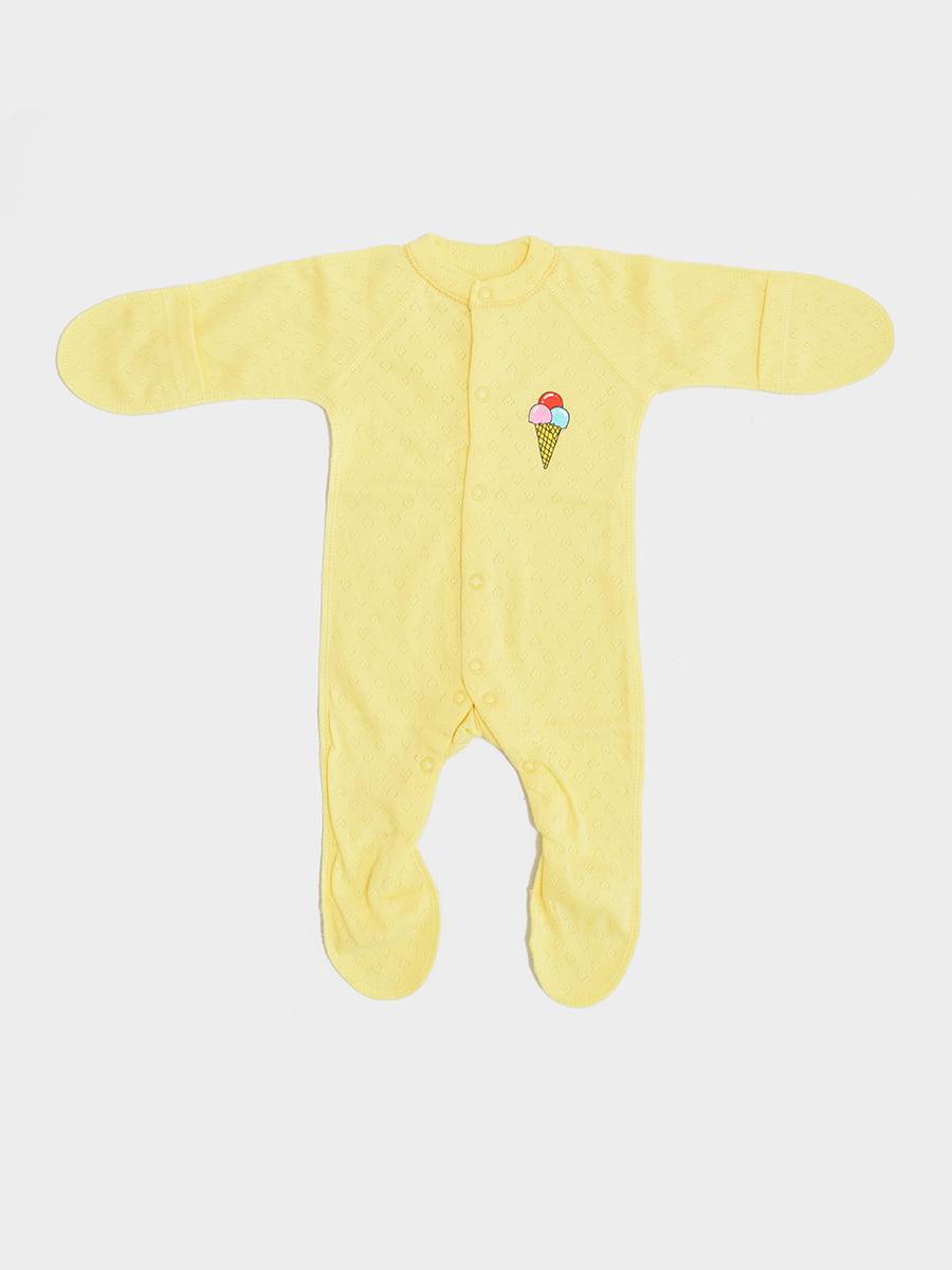 Чоловічок жовтий з принтом | 5490026