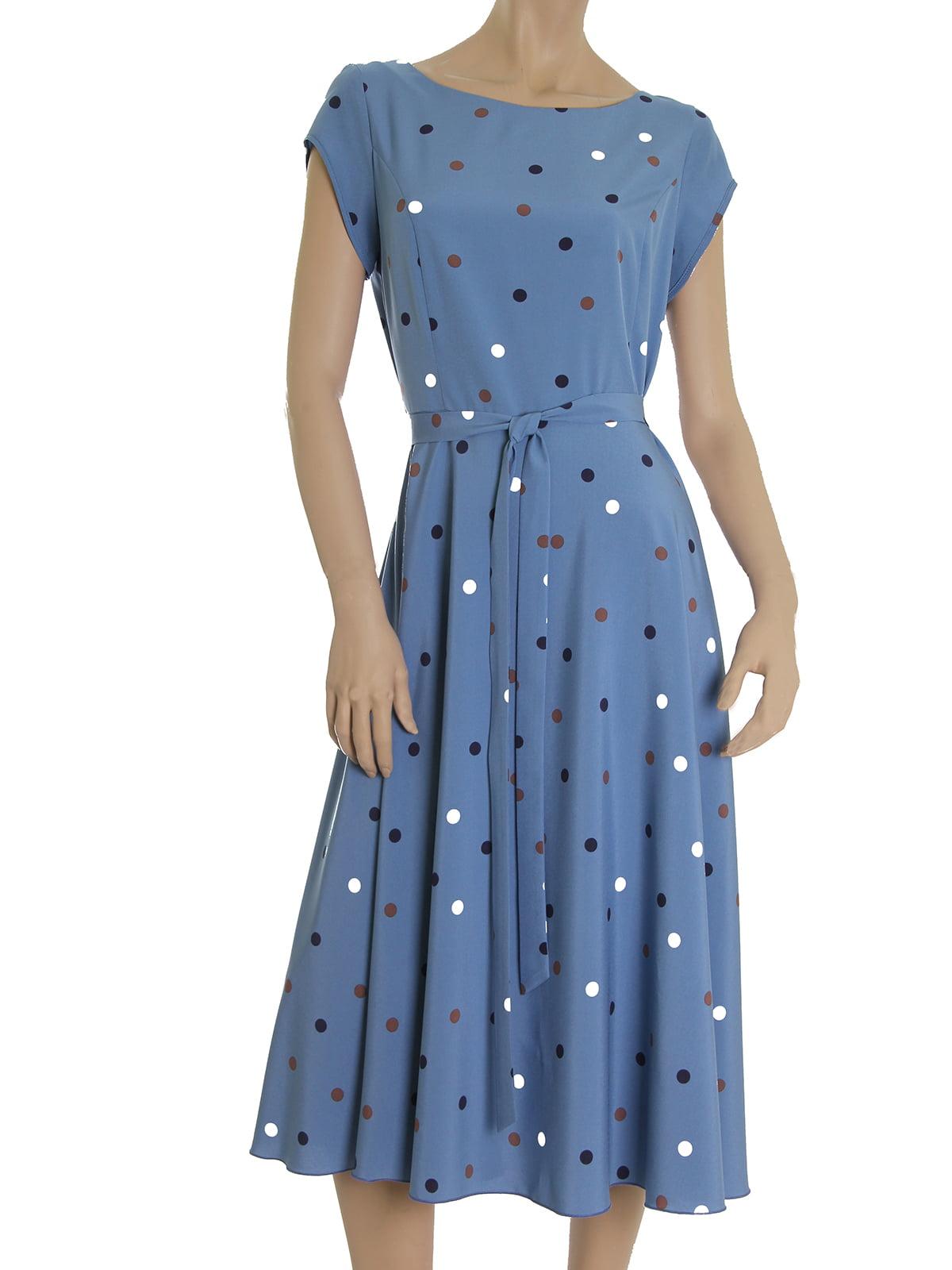 Платье голубое в горох   5491236