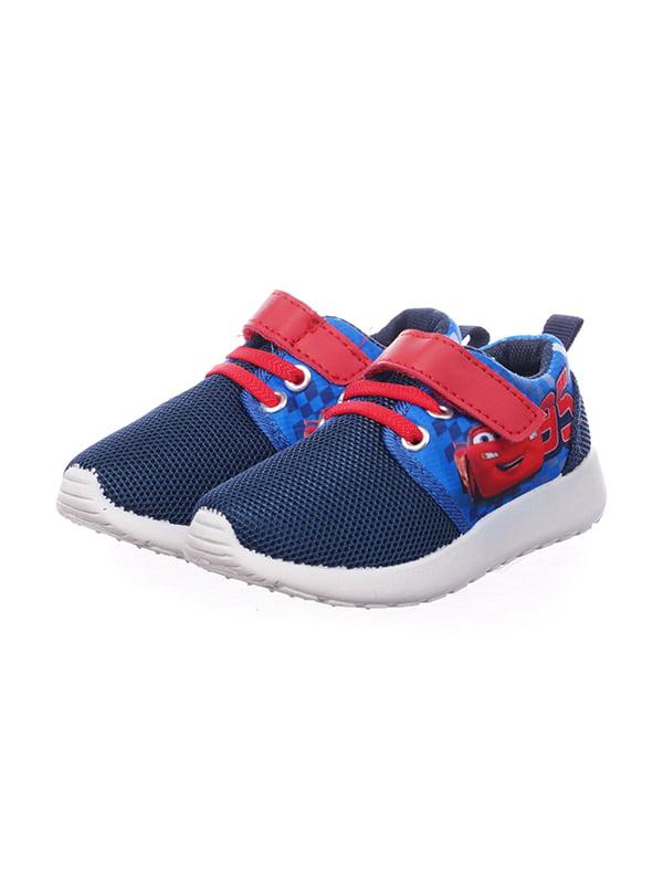 Кросівки сині в принт | 5491553