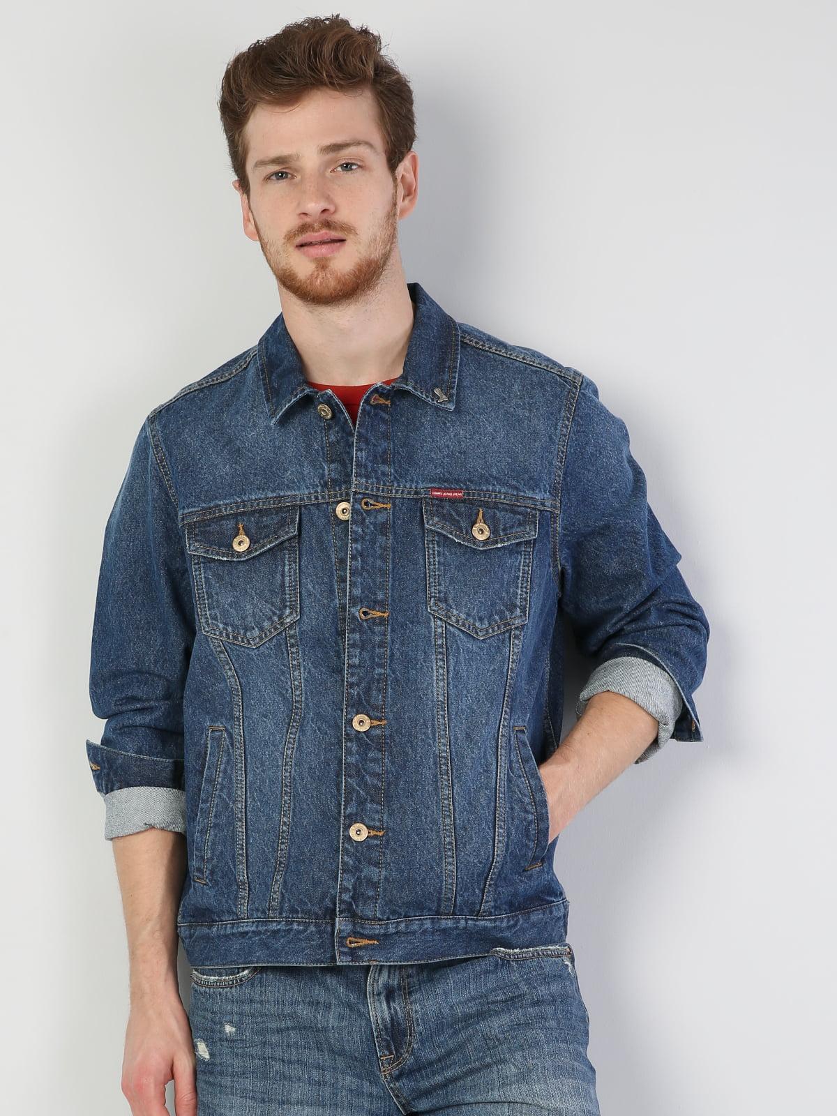 Куртка синяя джинсовая | 5494390