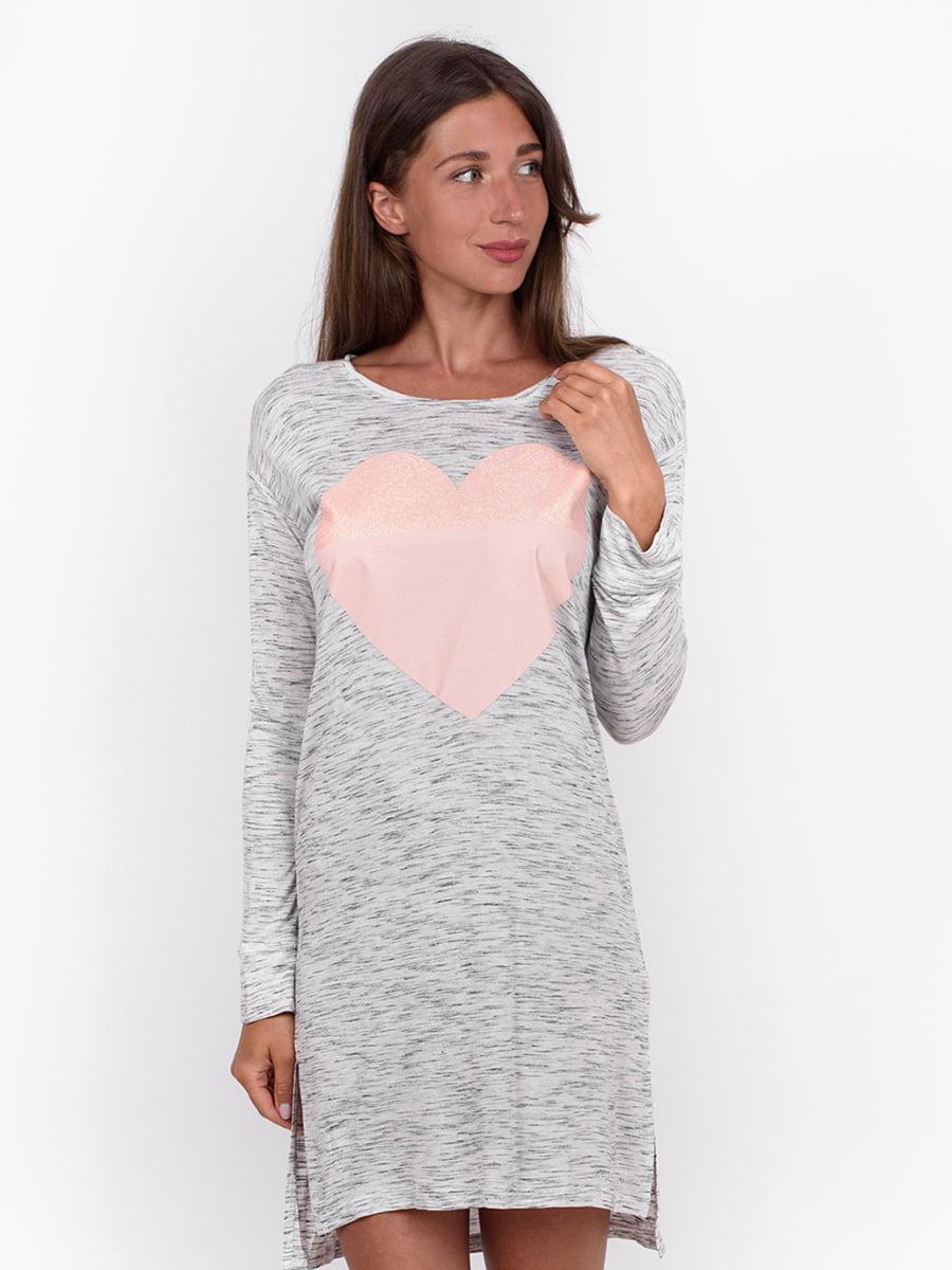 Сукня сіра з принтом | 5495026