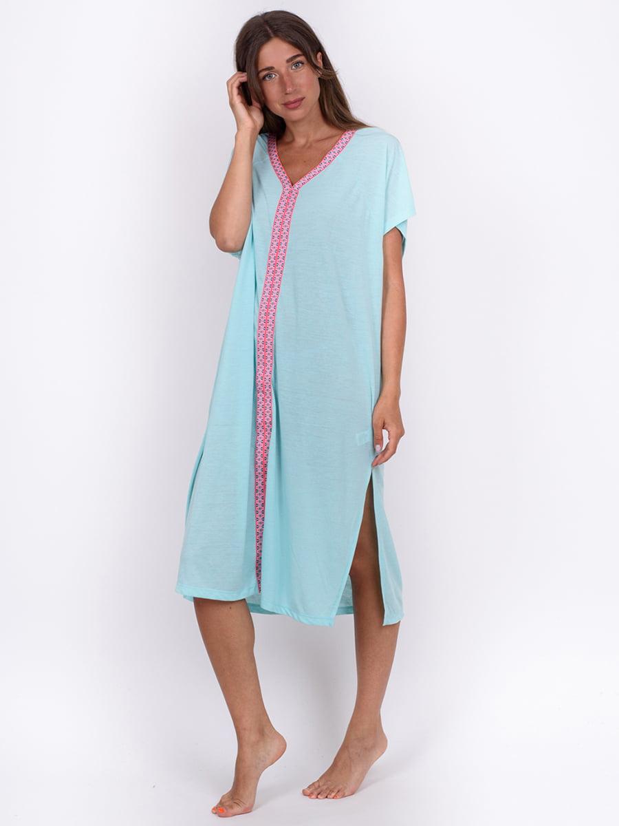 Сукня м'ятного кольору з орнаментом | 5495051