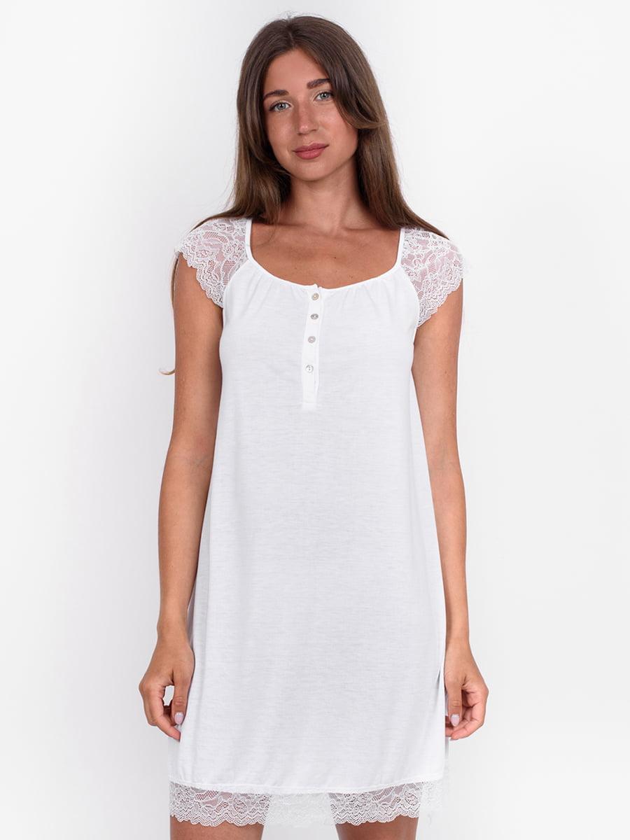 Сорочка нічна біла | 5495092