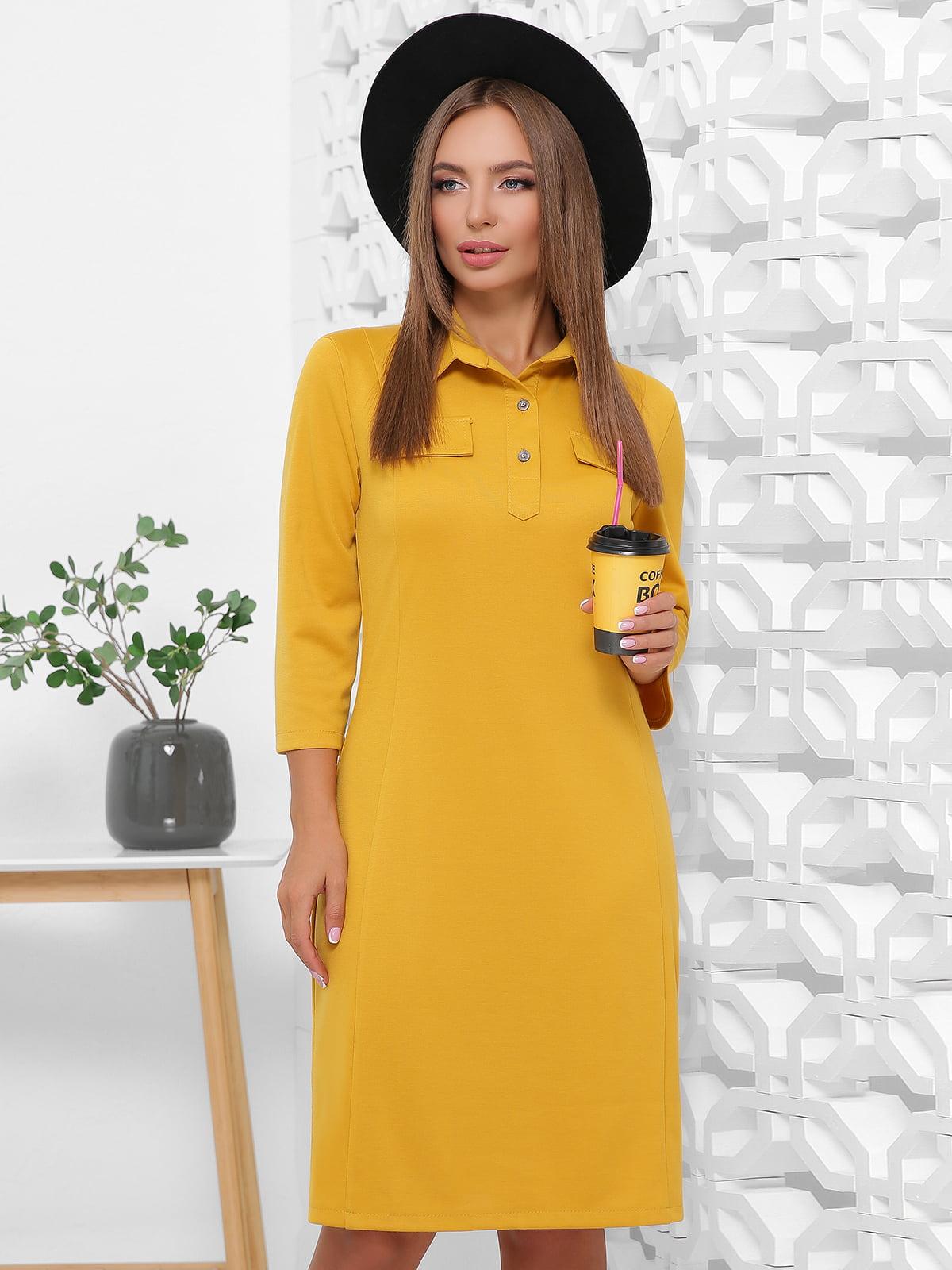 Сукня гірчичного кольору | 5491897