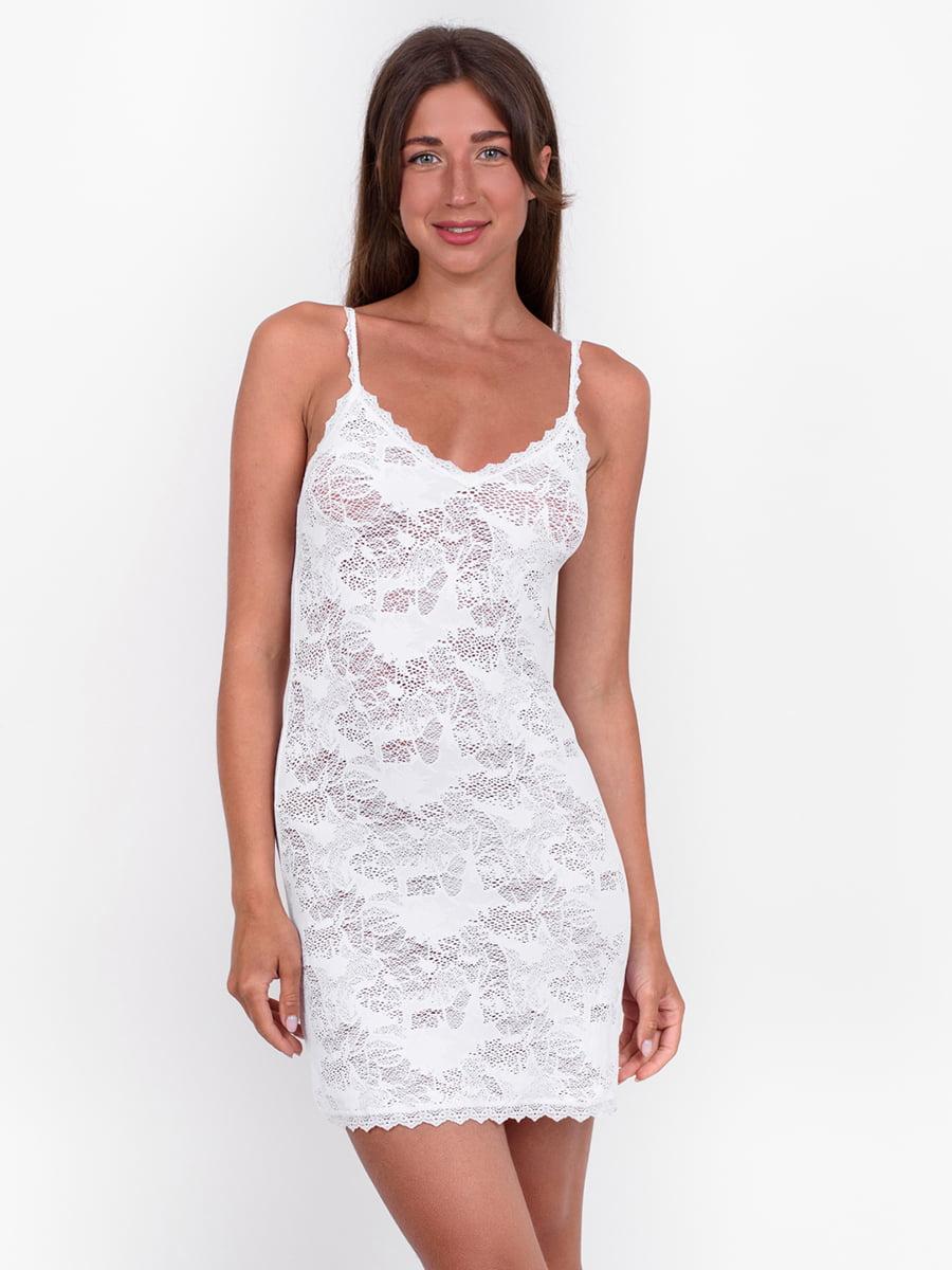 Рубашка ночная белая | 5495370