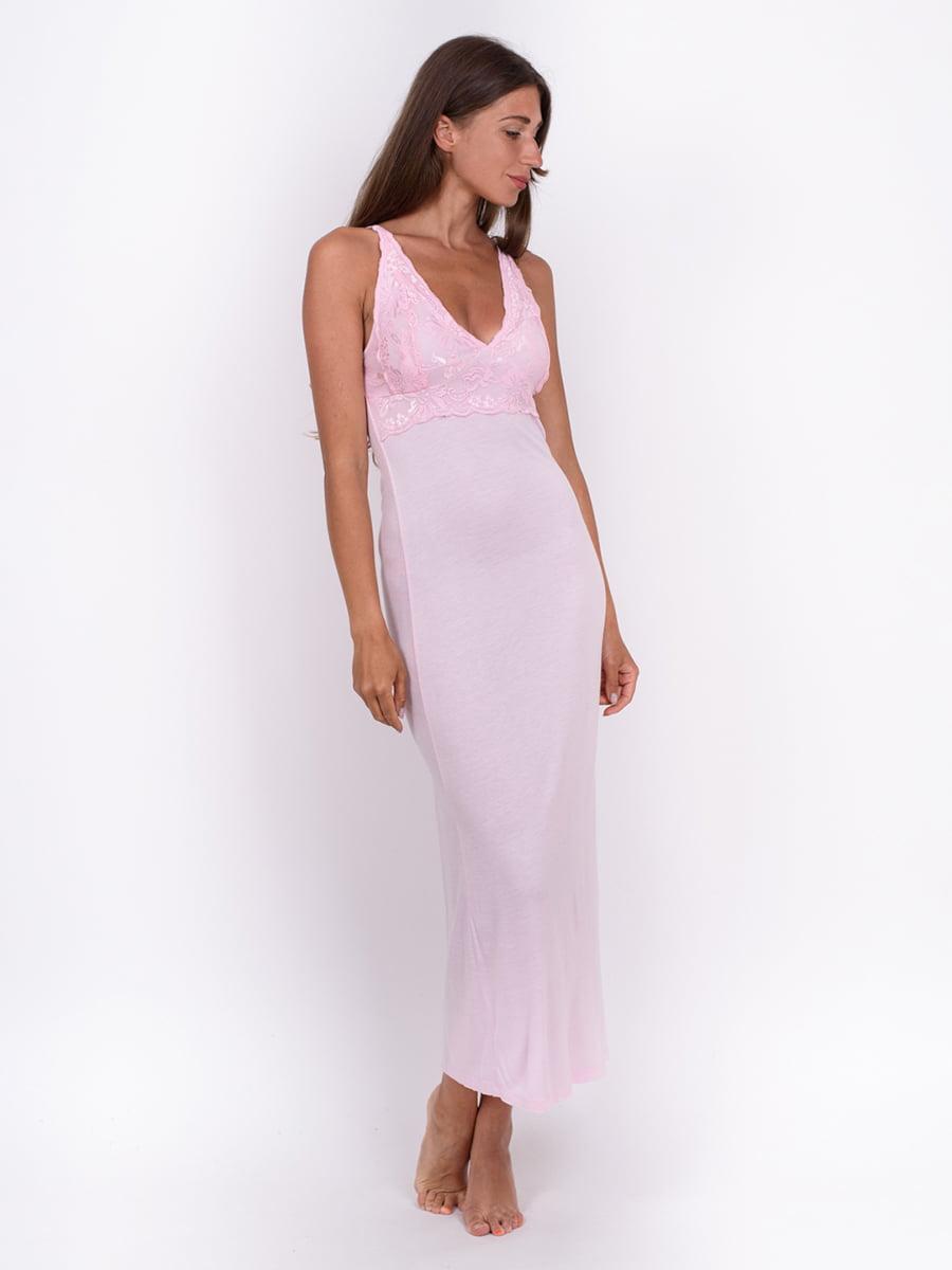 Рубашка ночная светло-розовая   5495401