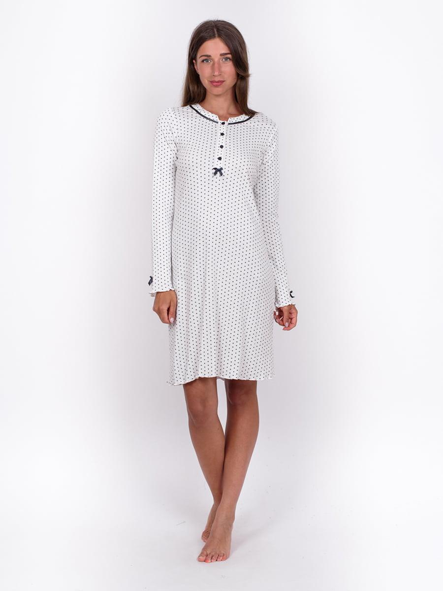 Платье белое в горох | 5495462