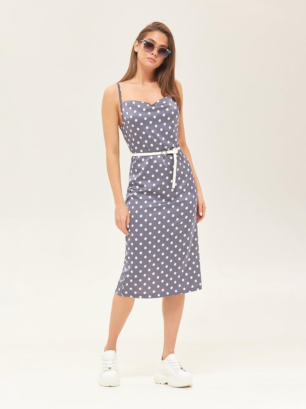 Сукня синя у горошок | 5497526