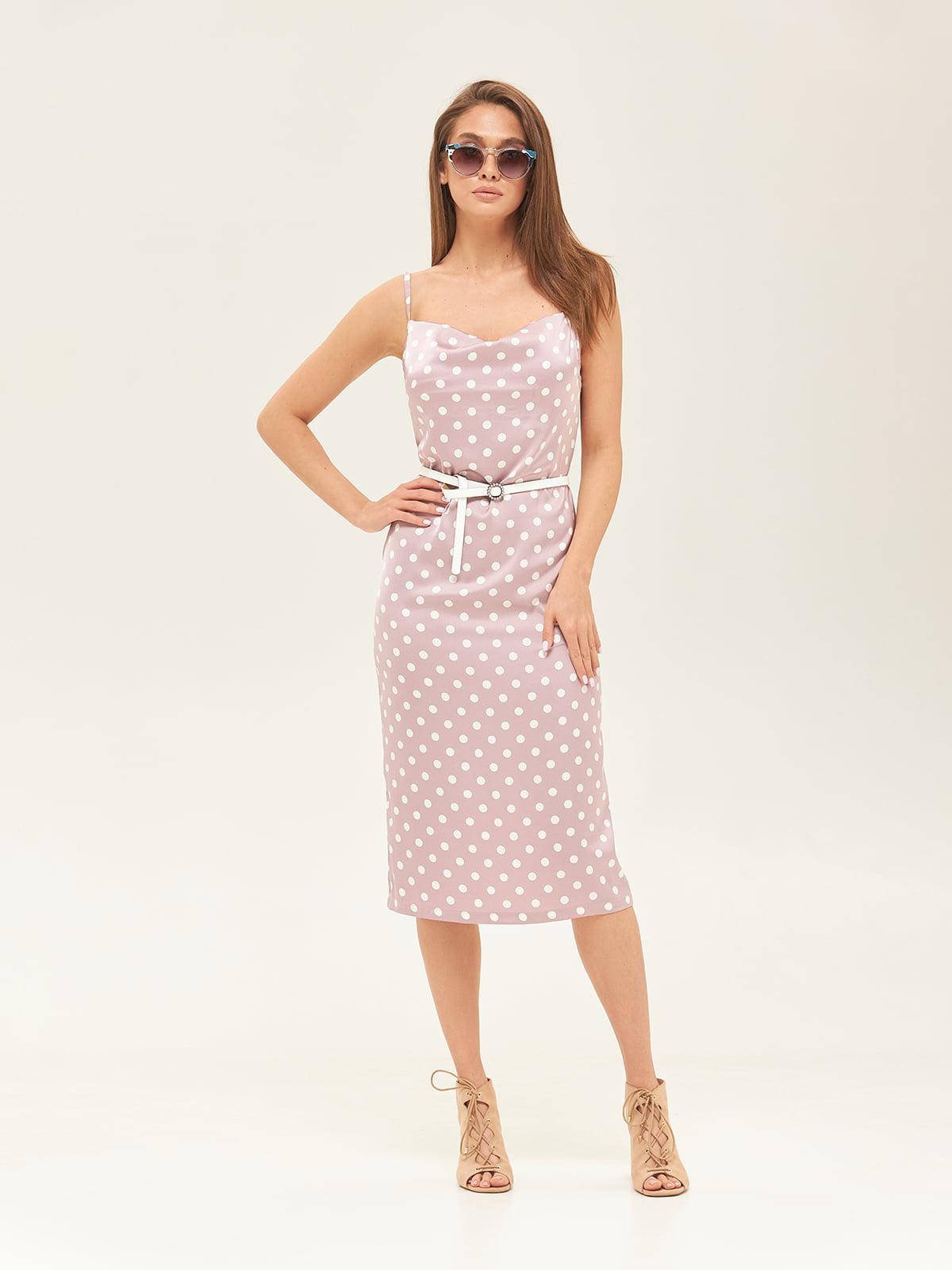 Сукня рожева у горошок | 5497527