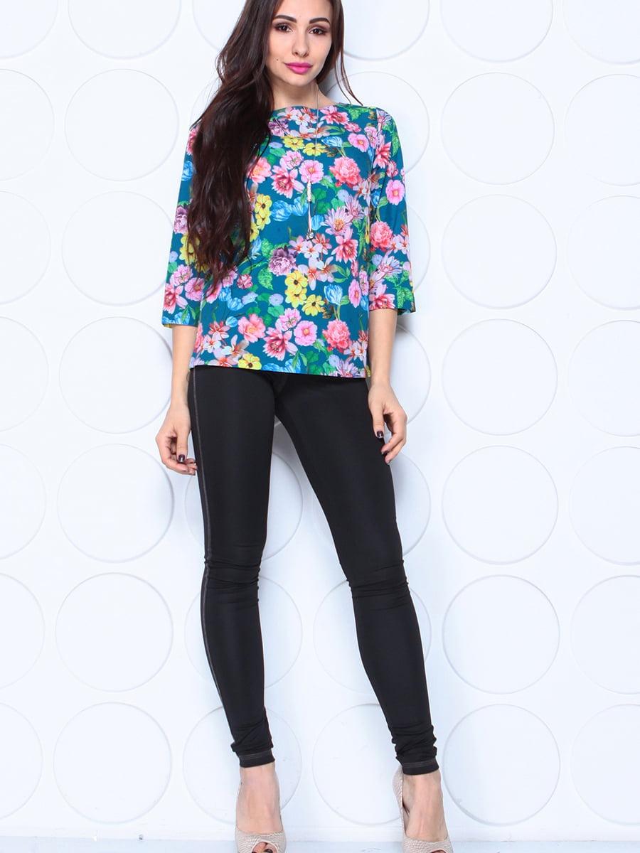 Блуза в квітковий принт | 5497619