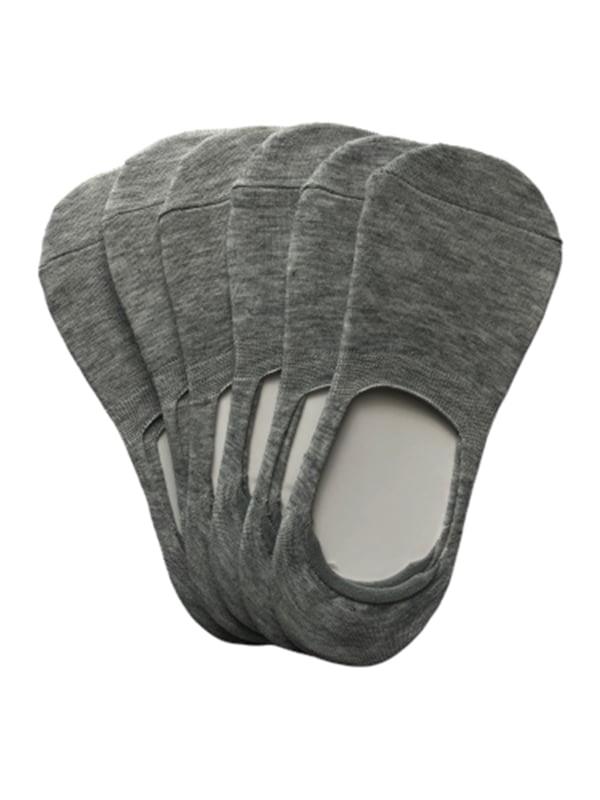 Набор серых мужских носков следы (6 пар) | 5499235
