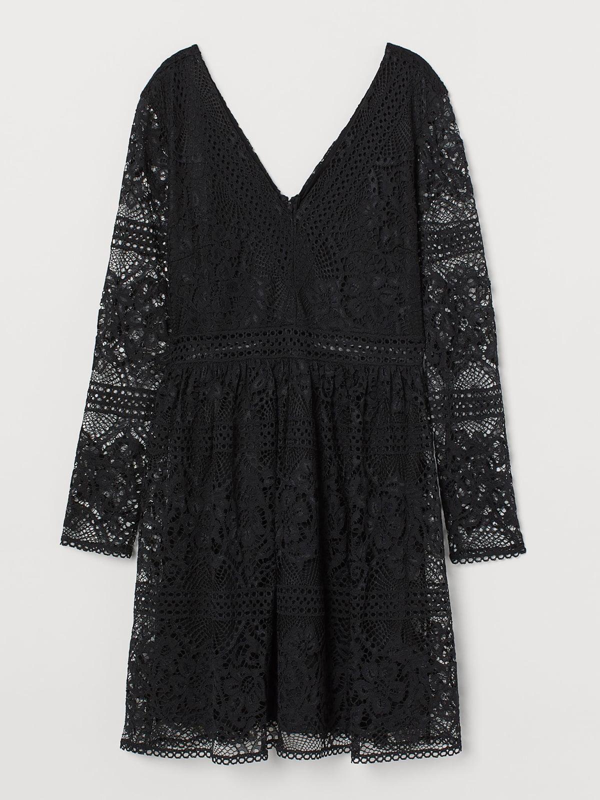 Платье кружевное черного цвета   5500525