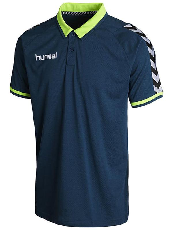 Футболка-поло изумрудного цвета с логотипом | 5501768