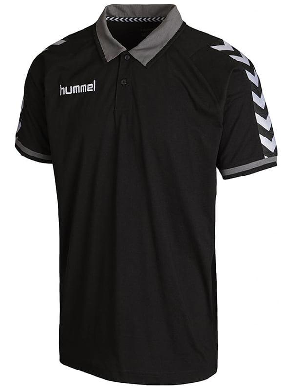 Футболка-поло чорна з логотипом | 5501787