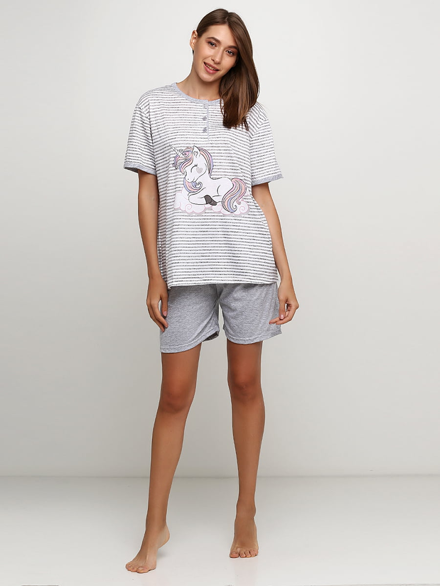 Пижама: футболка и шорты | 5484113