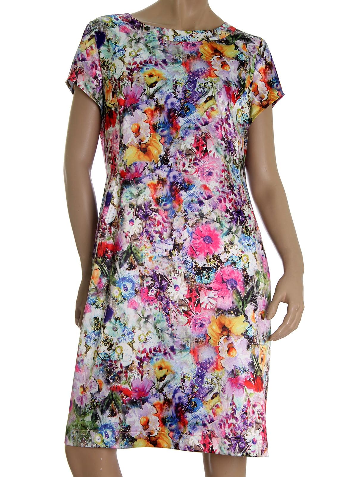 Платье розовое в цветочный принт | 5502874