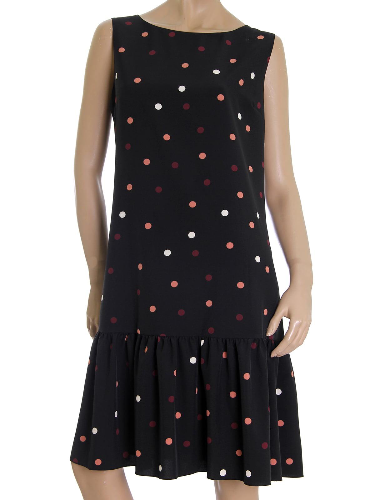 Платье черное в горох   5502877
