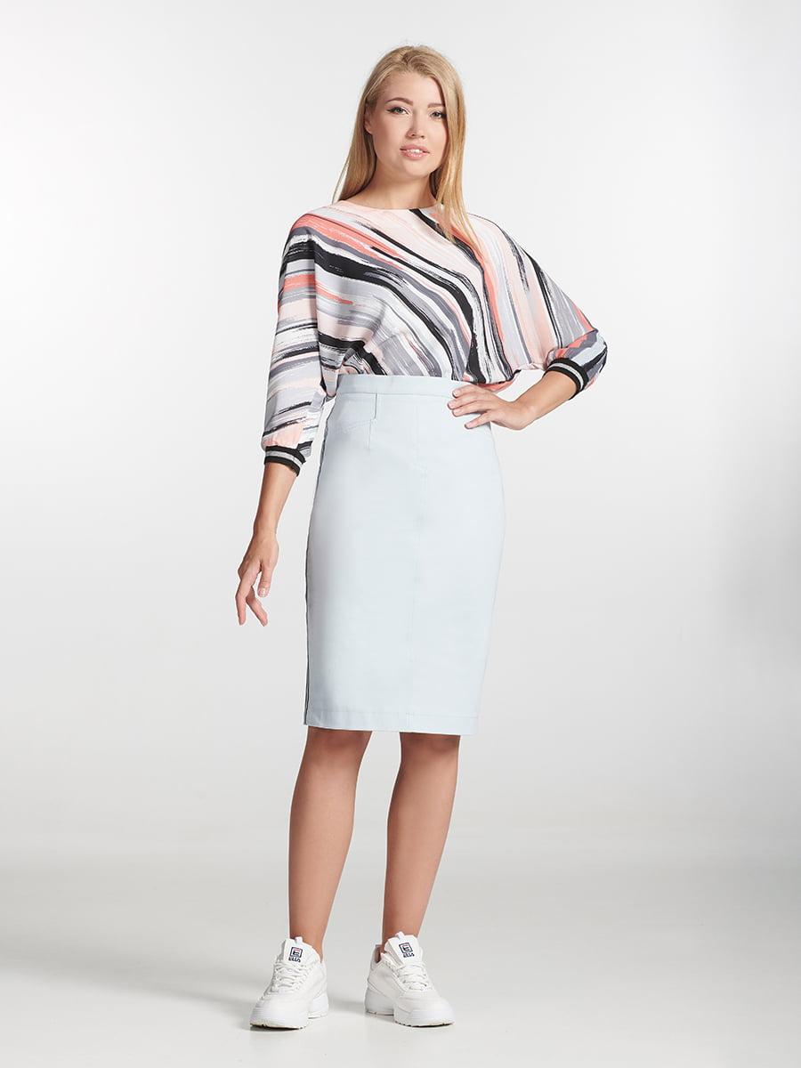 Блуза разноцветная в полоску | 5304087
