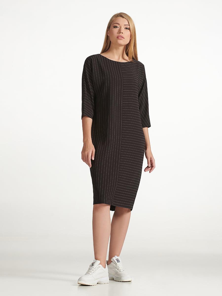 Платье черное в полоску | 5304161