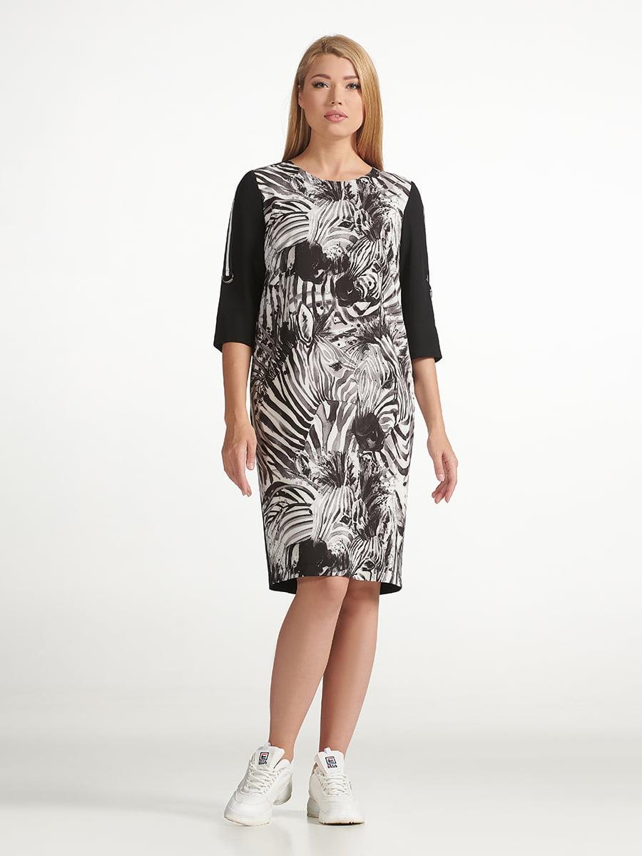 Платье черное с принтом | 5304163