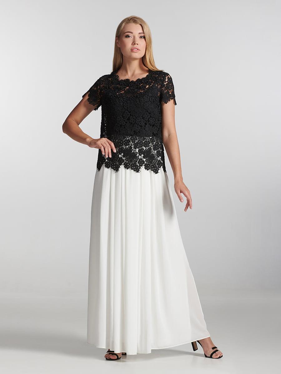 Блуза чорна з візерунком | 5304294