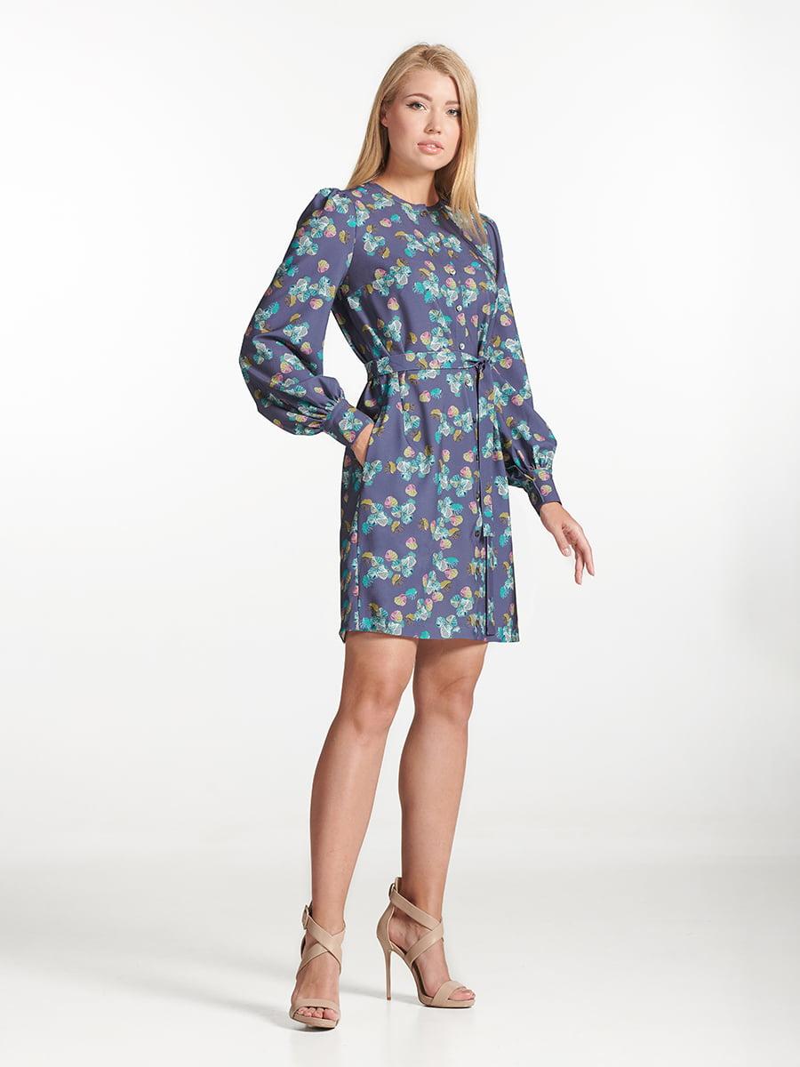 Платье фиолетовое с принтом | 5502605