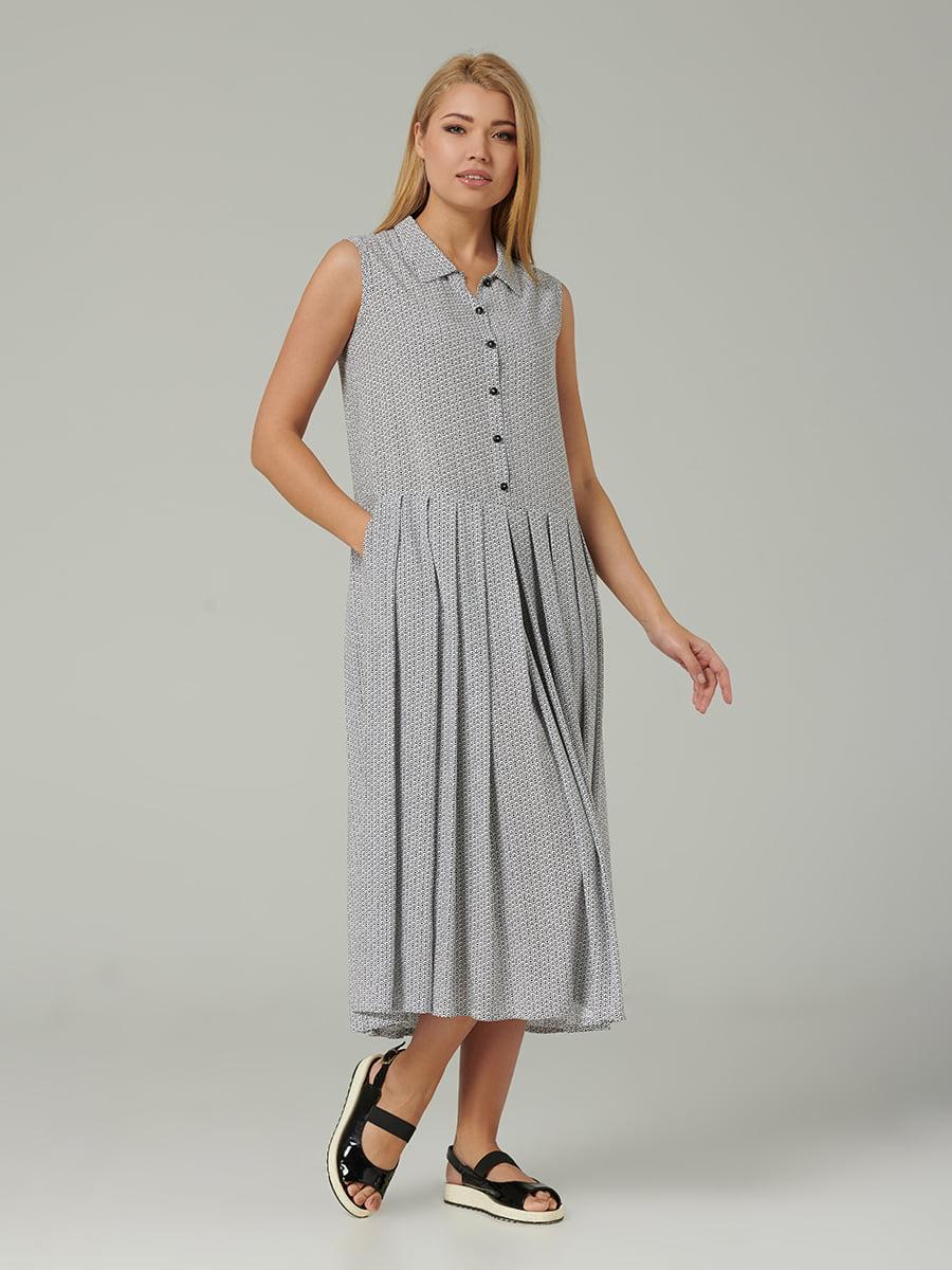 Платье белое с принтом   5441319