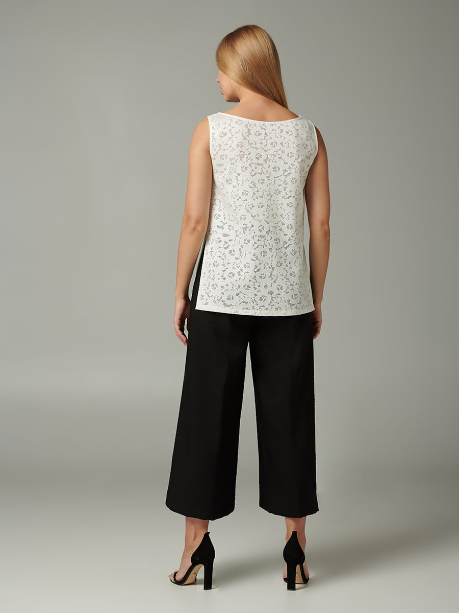 Блуза молочного цвета с узором   5502726