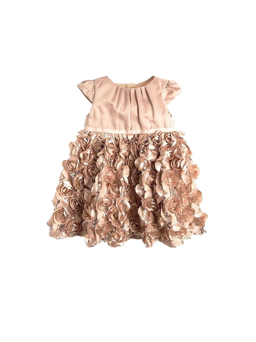 Платье бежевое с декором | 5502995