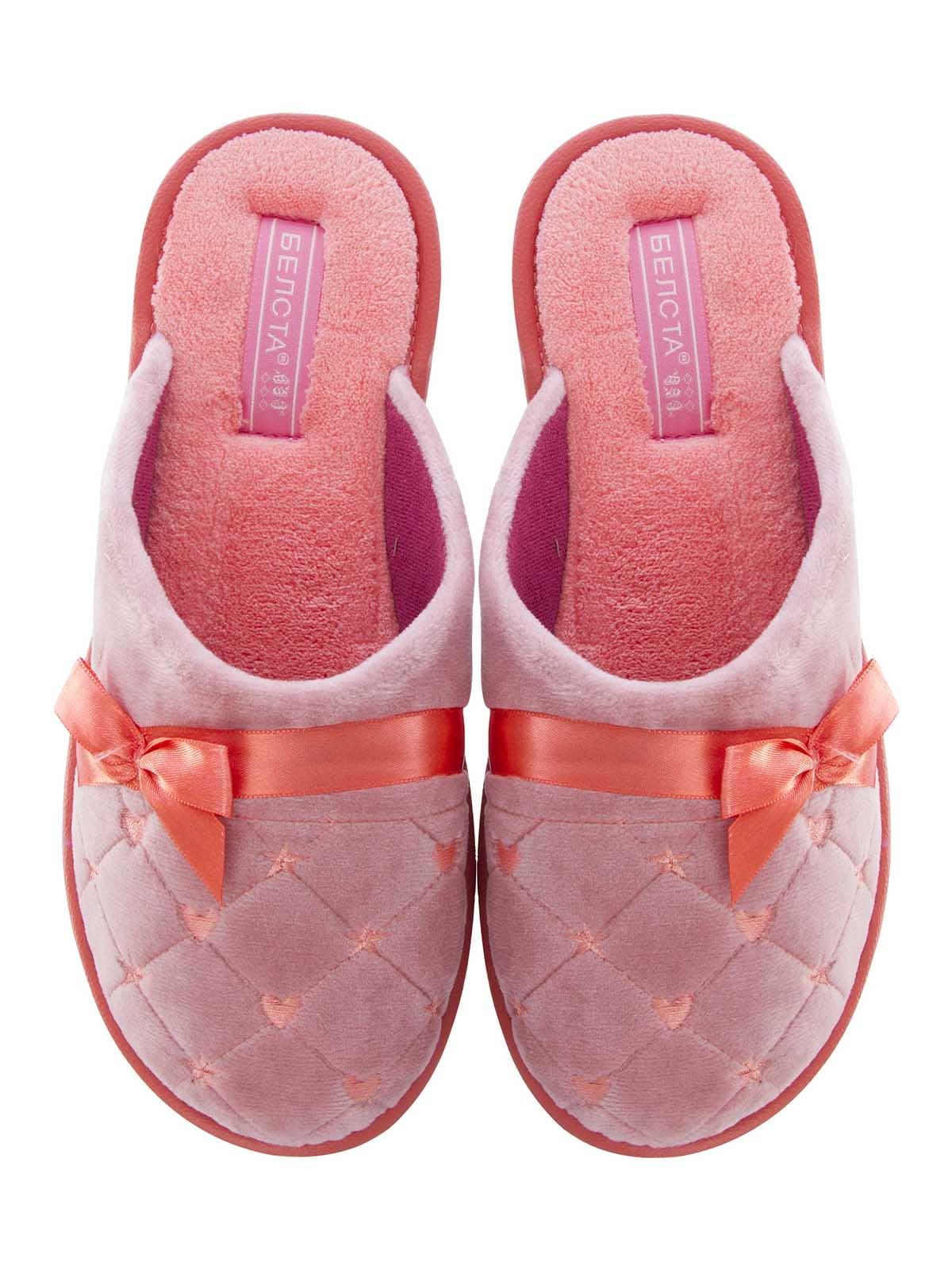Тапочки розовые с декором | 5503022