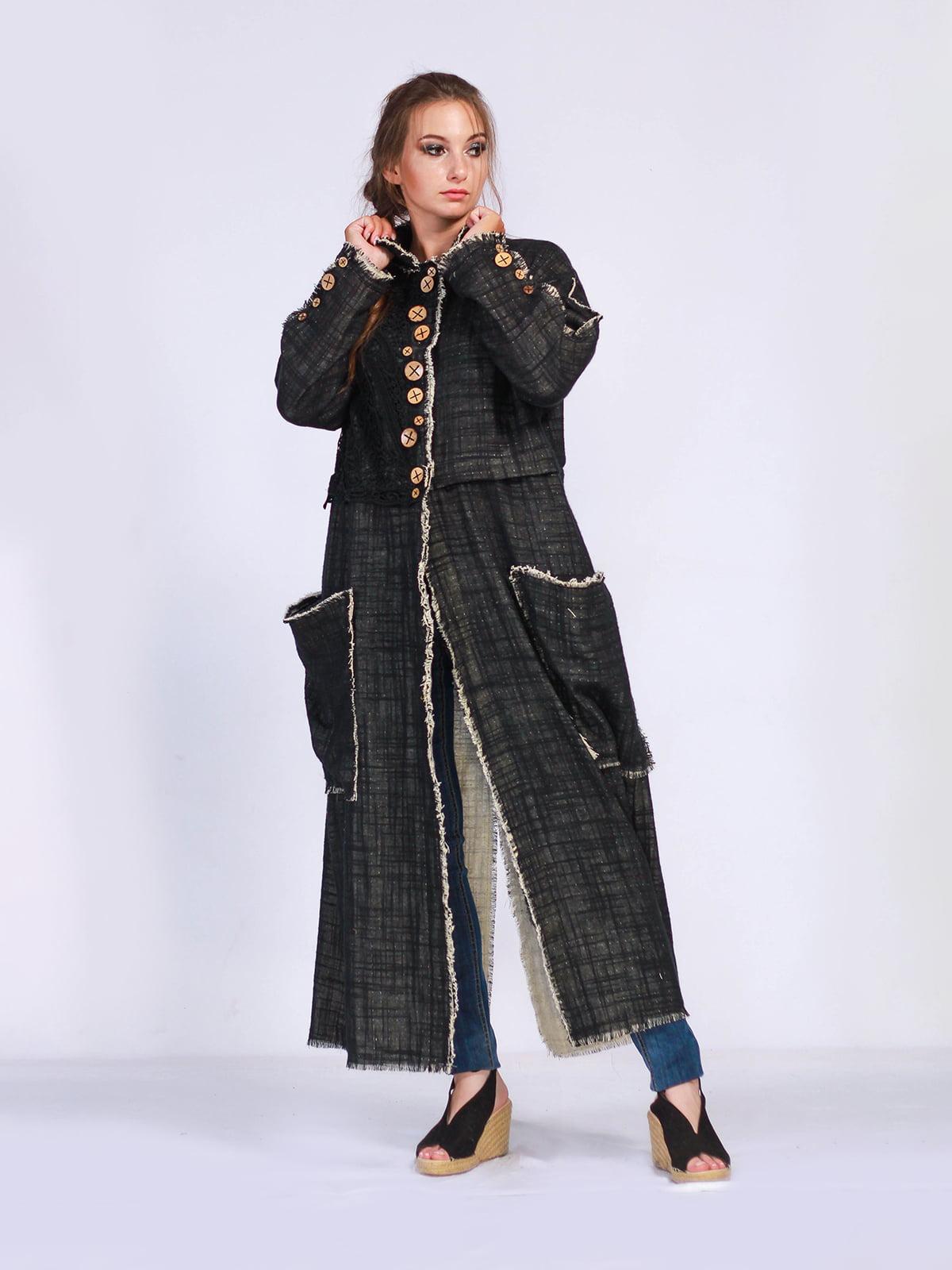 Пальто чорне | 5503857