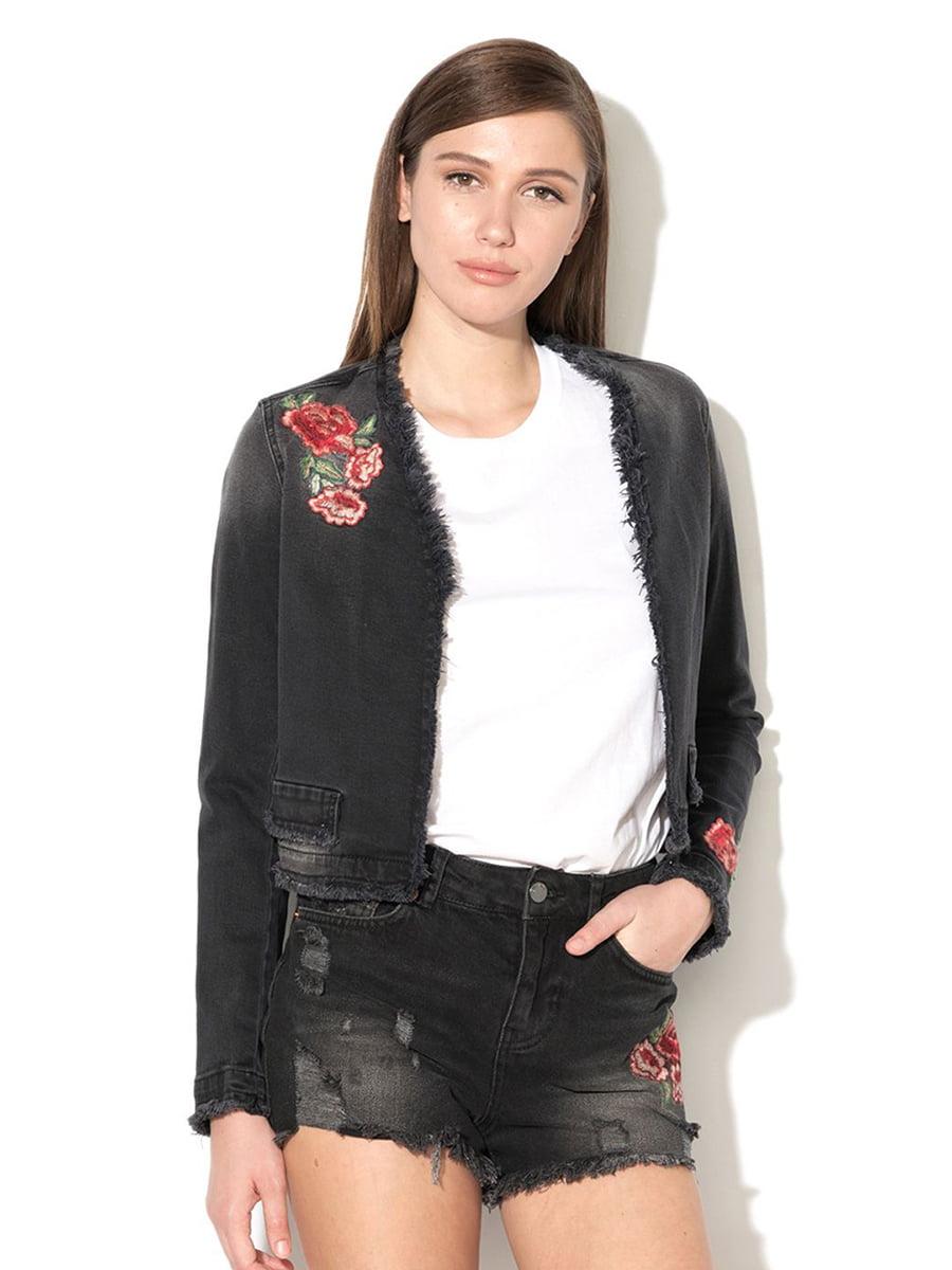 Жакет черный с вышивкой   5507637