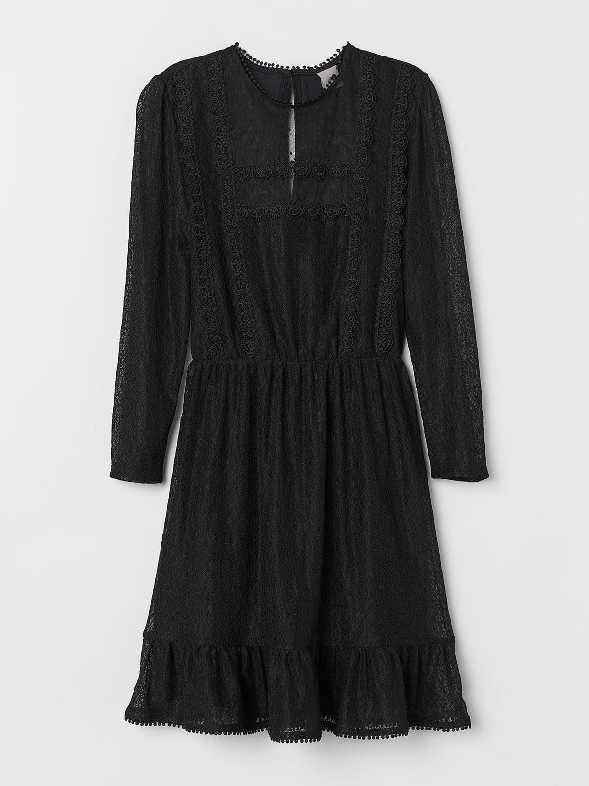 Сукня чорна мереживна | 5504939